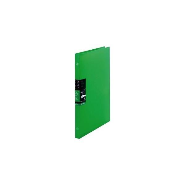 テフレーヌ 8穴(26穴ルーズリーフ対応)バインダーノート スリム 緑 ルーズリーフ対応 476TTEミト