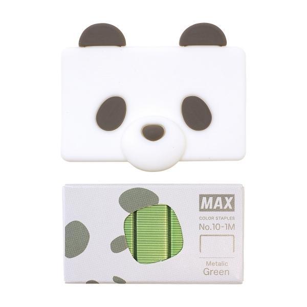シリコン針ケース付き カラー針 りくちのいきもの パンダ かわいい MAX MS91315