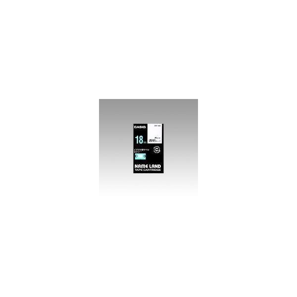 ネームランド用 テープカートリッジ スタンダードテープ 透明ラベル 黒文字  XR-18X
