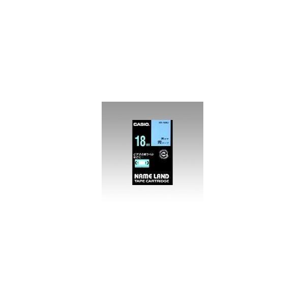 ネームランド用 テープカートリッジ スタンダードテープ 青ラベル 黒文字  XR-18BU
