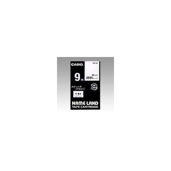 ネームランド用 テープカートリッジ スタンダードテープ 透明ラベル 黒文字  XR-9X