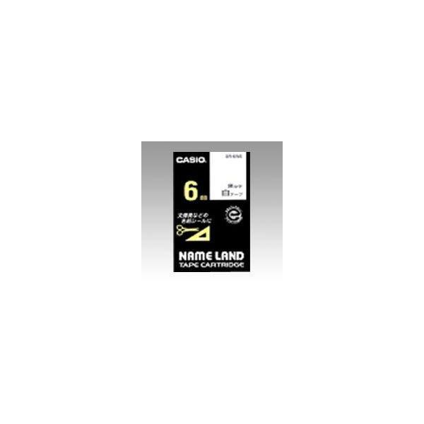 ネームランド用 テープカートリッジ スタンダードテープ 白ラベル 黒文字  XR-6WE