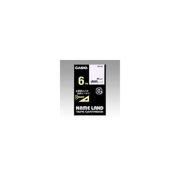 ネームランド用 テープカートリッジ スタンダードテープ 透明ラベル 黒文字  XR-6X
