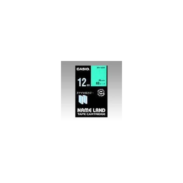 ネームランド用 テープカートリッジ スタンダードテープ 緑ラベル 黒文字  XR-12GN