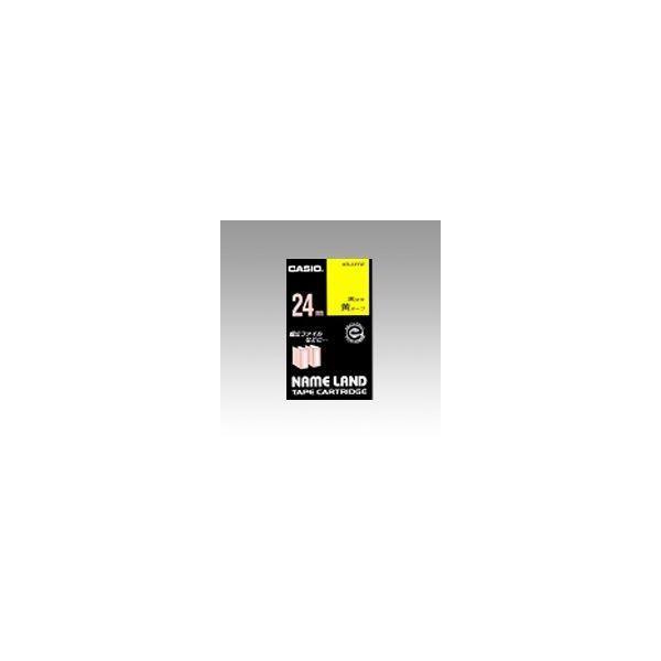 ネームランド用 テープカートリッジ スタンダードテープ 黄ラベル 黒文字  XR-24YW