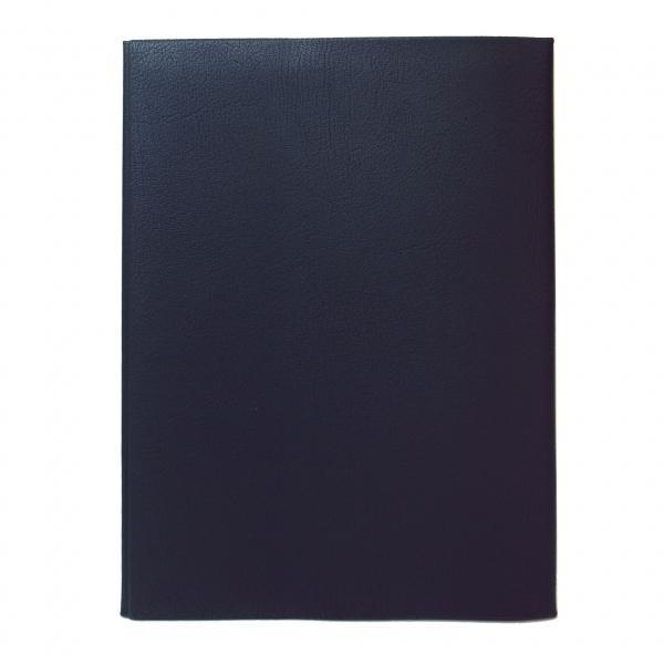 皮革調ブックカバ-No.12 B5判 紺  324263
