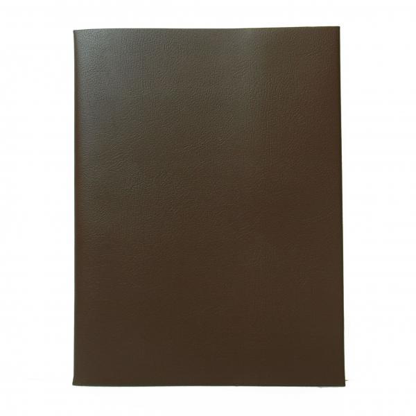 皮革調ブックカバ-No.14 A4 茶  325024
