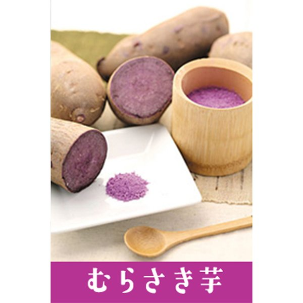 野菜パウダー 野菜ファインパウダー 紫いも 20g / 国産野菜100% 製菓 製パン 製麺 料理 離乳食や介護食にも 野菜パウダー