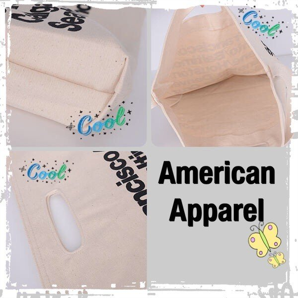 レビューを書いてDM便送料無料 AmericanApparel アメリカンアパレル  トート バッグ ショルダー  // 3色【ホワイト/ブラック/ジーンズブルー】|keduka|06
