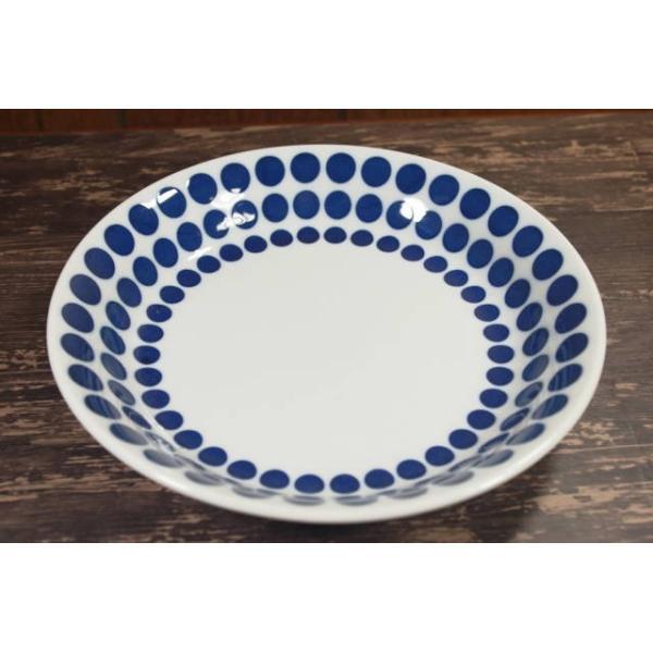 PS139 ドット21.8cmパスタ・カレー皿 [美濃焼/日本製/陶磁器/和食器/和風/深皿/ランチプレート/白/青/ホワイト/ブルー/おしゃれ/大皿/アウトレット]7左後