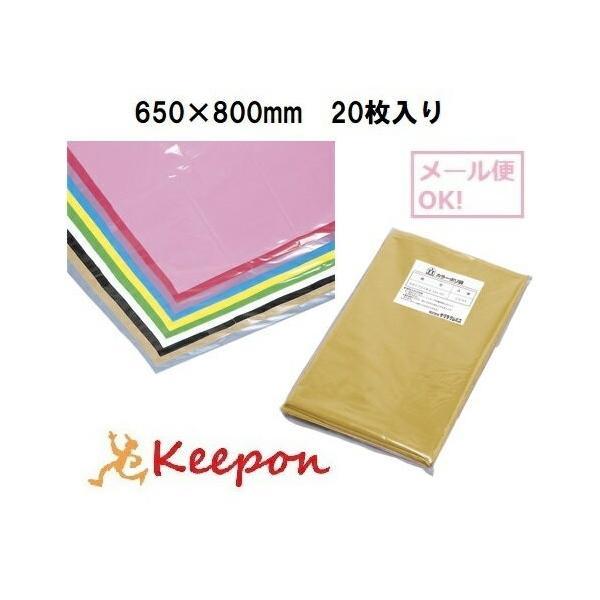 ☆20枚入り☆ カラーポリ袋 20枚 (数量1までメール便可能) 8色からお選びください 650×800mm カラービニール袋 カラーポリ袋 発表会 学芸会