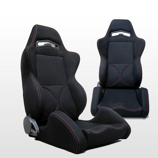 トヨタ プリウスNHW20用 リクライニングシート Type RS(ブラック赤ステッチ)&レールセット 片側|keepsmile-store|02