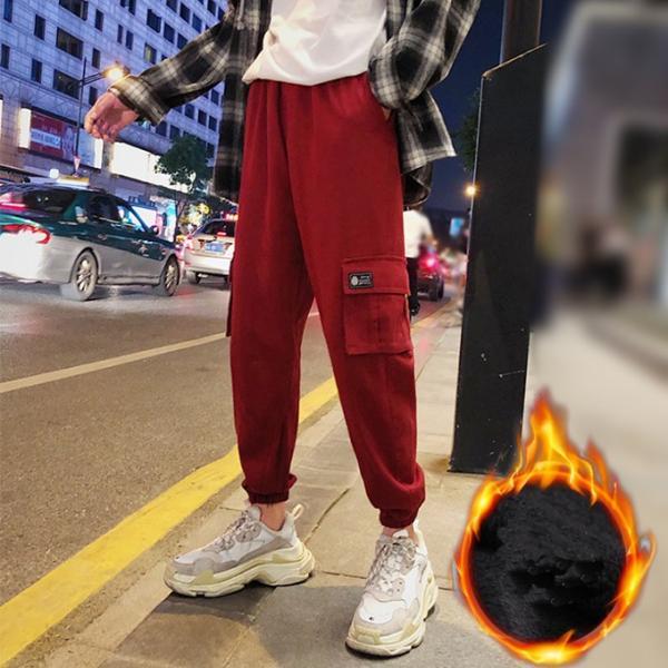 送料無料 ジョガーパンツ メンズ 2019新作 細身 スウェットパンツ ストレッチ 登山用パンツ イージーパンツ スエットパンツ 暖か 裏起毛 サルエルパンツ|keepy|06