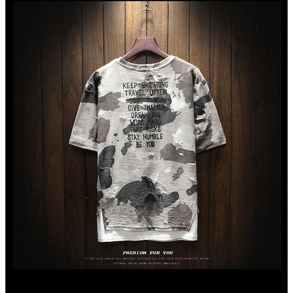 2019年夏新作 迷彩柄Tシャツ メンズTシャツ 半袖 Uネック 脇汗対策   吸汗 速乾 カジュアルTシャツ トップス Tシャツ メンズ おしゃれ 送料無料|keepy|02