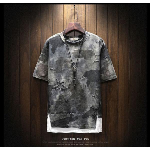 2019年夏新作 迷彩柄Tシャツ メンズTシャツ 半袖 Uネック 脇汗対策   吸汗 速乾 カジュアルTシャツ トップス Tシャツ メンズ おしゃれ 送料無料|keepy|03