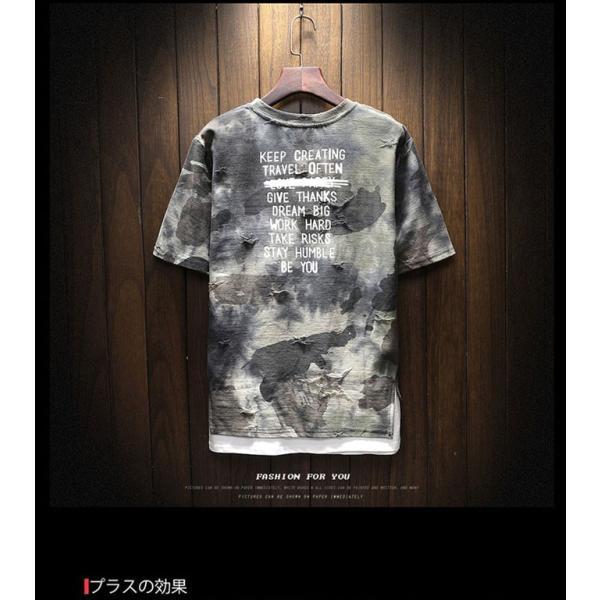 2019年夏新作 迷彩柄Tシャツ メンズTシャツ 半袖 Uネック 脇汗対策   吸汗 速乾 カジュアルTシャツ トップス Tシャツ メンズ おしゃれ 送料無料|keepy|04