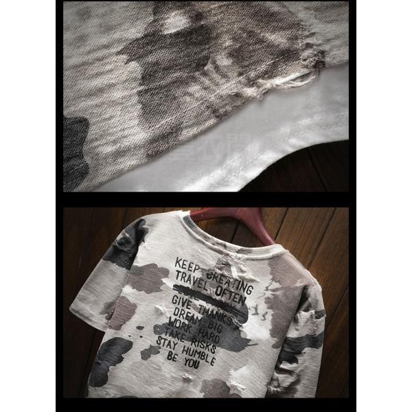 2019年夏新作 迷彩柄Tシャツ メンズTシャツ 半袖 Uネック 脇汗対策   吸汗 速乾 カジュアルTシャツ トップス Tシャツ メンズ おしゃれ 送料無料|keepy|06