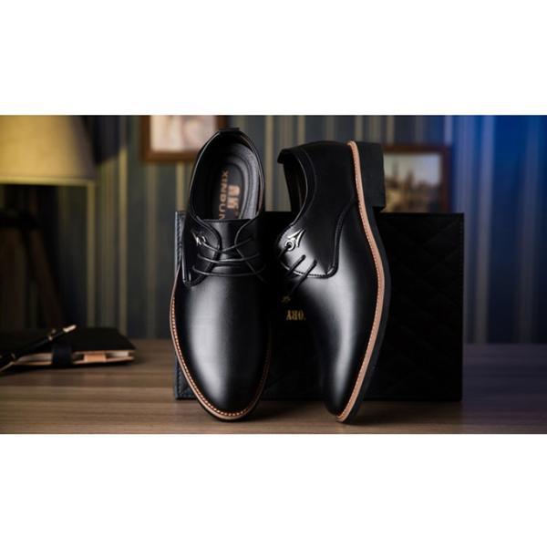 キングサイズ  紳士靴 メンズ ビジネスシューズ レースアップ  防滑 ソール   ストレート チップ レ ザー 通勤シンプルローカット商 事 2019軽量 送料無料|keepy|02