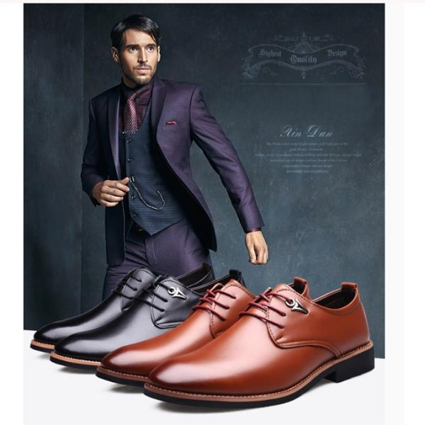 キングサイズ  紳士靴 メンズ ビジネスシューズ レースアップ  防滑 ソール   ストレート チップ レ ザー 通勤シンプルローカット商 事 2019軽量 送料無料|keepy|04