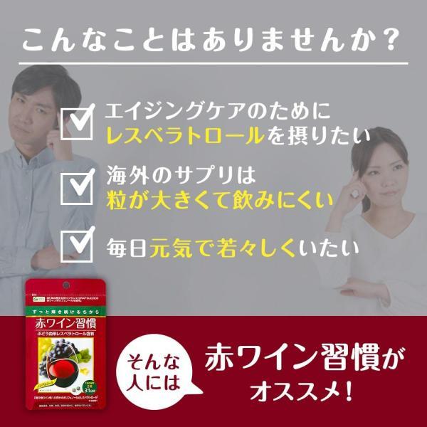 ノンアルコール 赤ワイン サプリ レスベラトロール含有 ポリフェノール200mg 赤ワイン習慣 約1カ月分 敬老の日|kefran-yshop|04