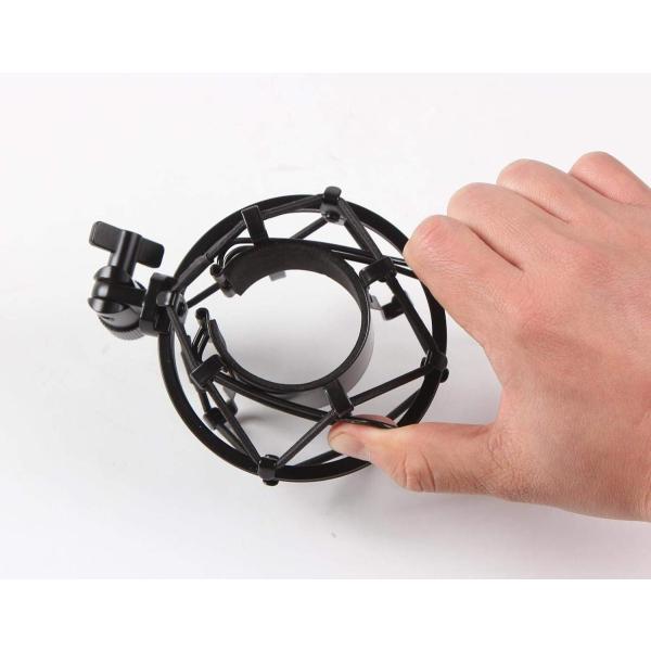 hana ショックマウント サスペンションホルダー スマホ スタンドセット 振動防止 48mm-54mmに対応 (48mm-54mm, ブラ|keihouse|09