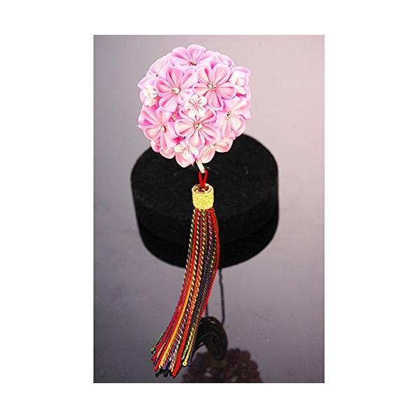 つまみ細工 髪飾り ピンク 成人式 七五三 浴衣 卒業式 結婚式 簪 髪かざり ゆかた 浴衣 通販 和装 花 留袖