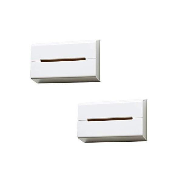 イデアコ ティッシュケース 壁に貼って使えるウォール ホワイト2個セット keihouse 03