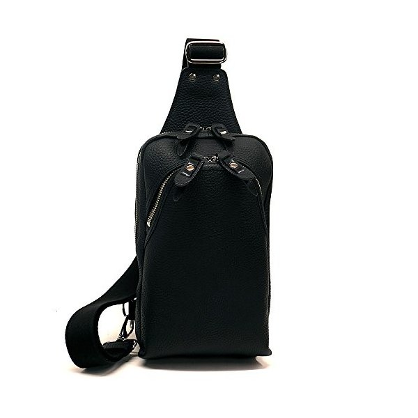 CWL1295-BLACK ボディーバック メンズ 本革 牛革 レザー 革 ワンショルダーバッグ ボディバッグ 日本製 ブラック
