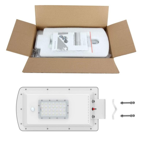 Morsen LED街灯 15W 2000LM センサーライト 夜間自動点灯 ソーラーライト エリア照明器具 15400mAhリチウム電池