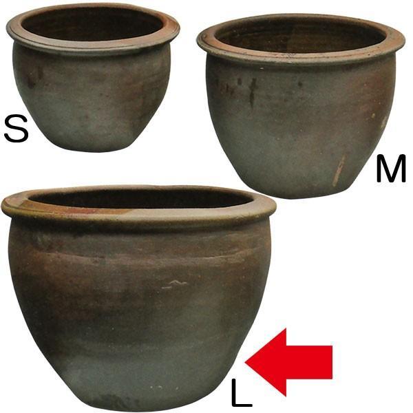 水鉢 JARシリーズA-2 Lサイズ 21号 全高48cm×直径66cm 陶器製 水蓮鉢 スイレン鉢 ビオトープ ハイドロカルチャー 水生植物 器