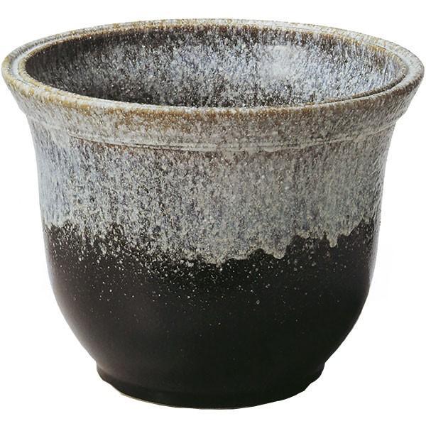 日本製 水鉢 白古窯変天 20号 全高48cm×幅60cm 信楽焼き しがらきやき 陶器製 睡蓮鉢 水蓮鉢 スイレン鉢 ハイドロカルチャー ビオトープ