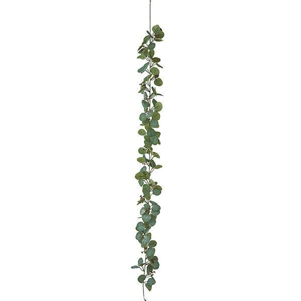 ユーカリ ガーランド 全長180cm(フェイクグリーン 造花 インテリアグリーン おしゃれ 人工観葉植物)