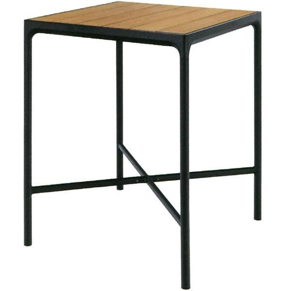テーブル 屋外対応 HOUE フォーバーテーブル スクエア 全高111cm×口90cm(ホウエアウトドア 組み立て式 竹製 ガーデンファーニチャー アウトドア用品 家具)