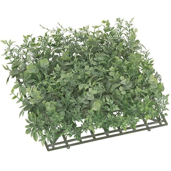人工芝 屋外 マット 口32cm×厚み9cm ユーカリ ガーデンマット 2枚セット(人工観葉植物 テラス バルコニー お庭 diy)