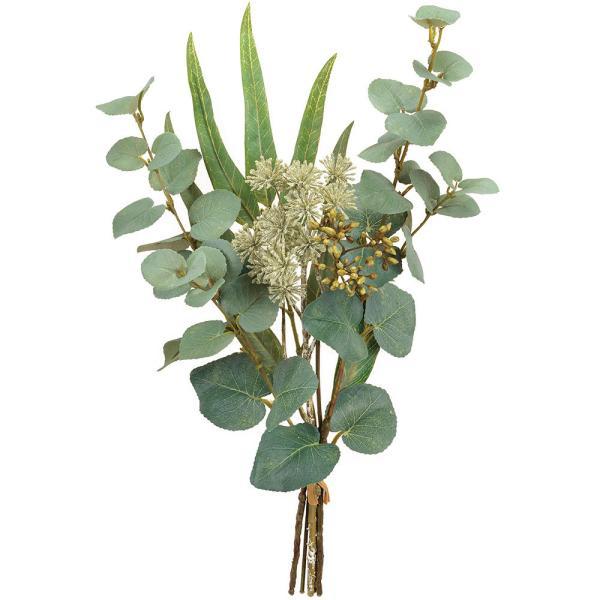 ユーカリ 全長38cm 2束セット(フェイクグリーン 造花 インテリアグリーン おしゃれ 人工観葉植物)