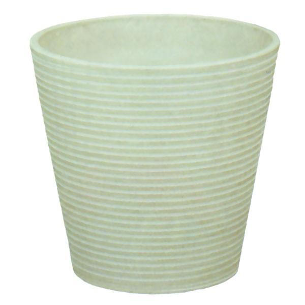 鉢カバー Garbo ホワイト レジン製 全高29cm×直径31cm 8号用 底穴なし プランター ポット 樹脂素材 観葉植物 インテリアグリーン用