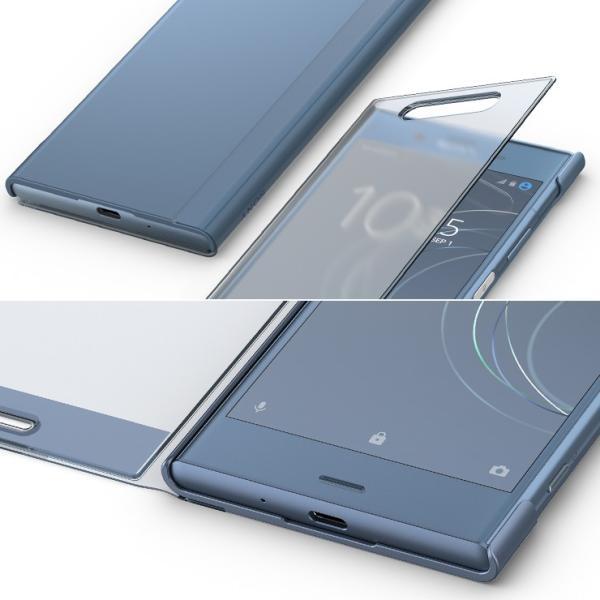 8b032c6b86 ... ソニー純正 Xperia XZ1 SO-01K/SOV36 ケース/カバー 手帳型 フルウィンドウ