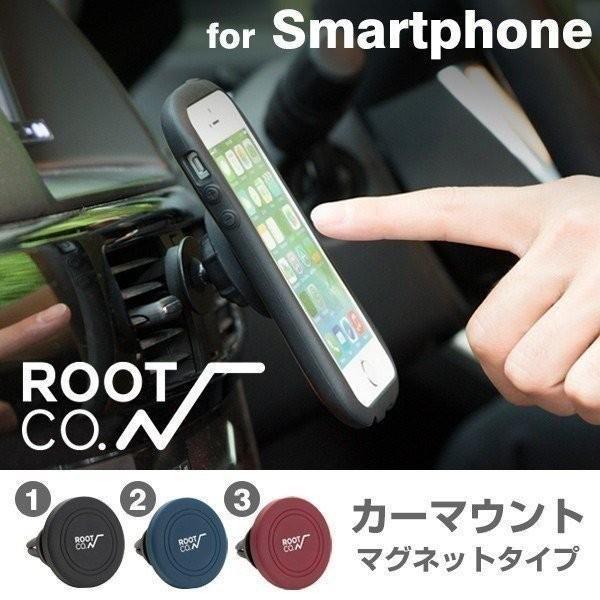 ROOT CO. スマホ カーマウント 車載 マグネット ホルダー  iPhone7 iPhone6s カーマウント スマートフォン カーマウント rootco. PLAYCar Mount.|keitai
