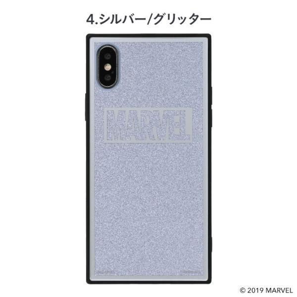 マーベル MARVEL スマホケース iPhoneXS  iPhoneX ケース iPhoneケース マーベル グッズ ロゴ TILE スクエア グリッター|keitai|05