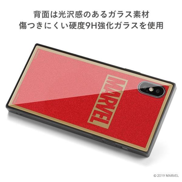 マーベル MARVEL スマホケース iPhoneXS  iPhoneX ケース iPhoneケース マーベル グッズ ロゴ TILE スクエア グリッター|keitai|06