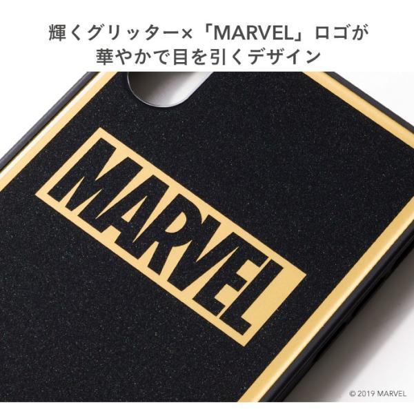 マーベル MARVEL スマホケース iPhoneXS  iPhoneX ケース iPhoneケース マーベル グッズ ロゴ TILE スクエア グリッター|keitai|07