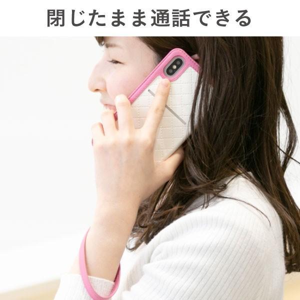 iphonex  iphonexs ケース 手帳型 trouver Plie トルヴェ プリエ 窓付き ダイアリーケース|keitai|09