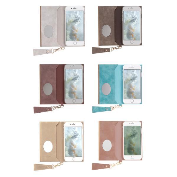 iphone8 手帳 ケース iphone7 手帳型 ケース 可愛い salisty サリスティ Q スエードスタイル ダイアリーケース keitai 08