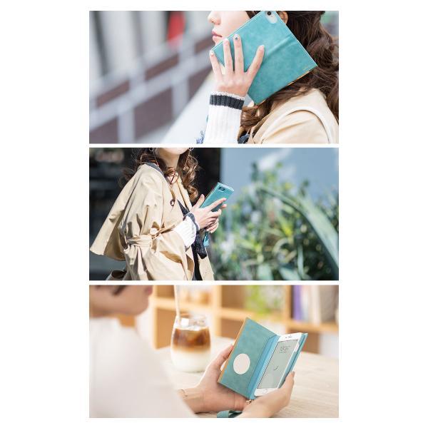 iphone8 手帳 ケース iphone7 手帳型 ケース 可愛い salisty サリスティ Q スエードスタイル ダイアリーケース keitai 09