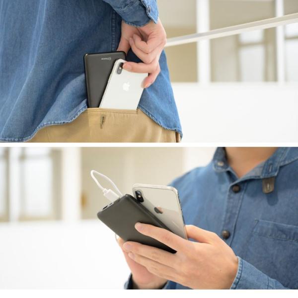 スマホ充電 バッテリー 薄型 急速 大容量 モバイルバッテリー PSE 2ポート 充電器 10000mAh|keitai|09