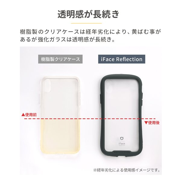 iface クリア 透明 アイフェイス クリア iPhone8 XS/X/XS Max/XR iphone7 ケース 強化ガラス 人気 Reflection|keitai|05