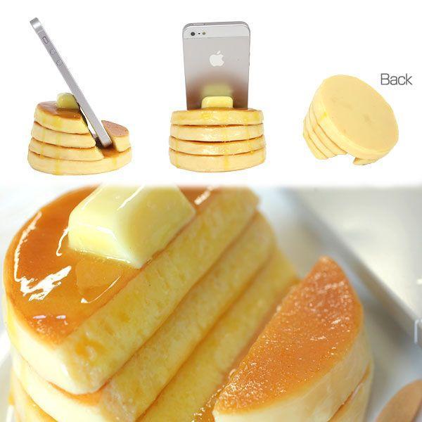 スマホ スマートフォン スタンド おもしろ スマホスタンド 食品サンプル  ホットケーキ|keitai|02