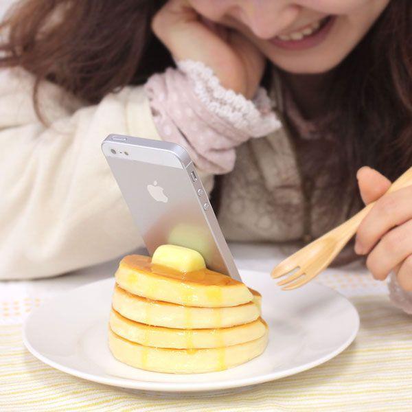 スマホ スマートフォン スタンド おもしろ スマホスタンド 食品サンプル  ホットケーキ|keitai|03