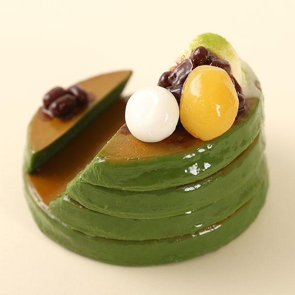 (各種スマートフォン対応)食品サンプルスタンド(濃い〜抹茶のパンケーキ)|keitai|06