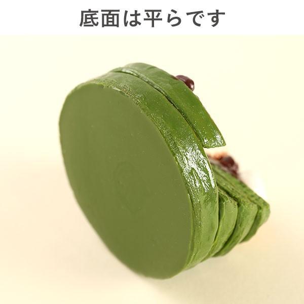 (各種スマートフォン対応)食品サンプルスタンド(濃い〜抹茶のパンケーキ)|keitai|09